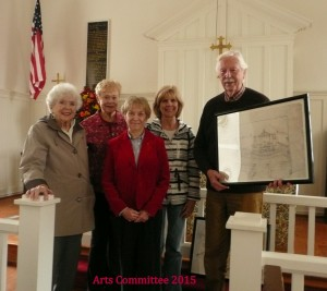 Arts Committee visits Hickory Neck Episcopal Church and the Norge Depot