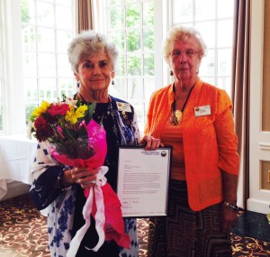 In June, Betty Cutts received her 50-year pin.