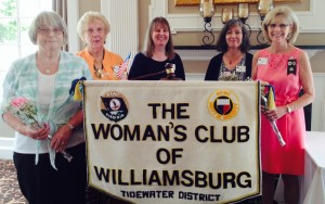 2015-2016 officers: Treasurer Annamay Carey, Corresponding Secretary Betty Nicholls, Recording Secretary Marion Helsley, Vice President Selene Pinkett, and President Lori Grygalonis
