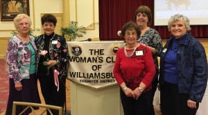 January 2016 new members: Marilyn Pellicane and Karen Eversole. And Polly Mills got her 50-year pin!