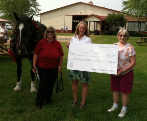 Our $350 donation to Dream Catchers (June 2015)