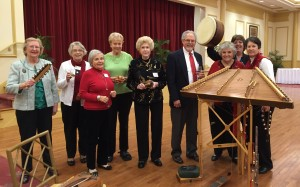Members enjoyed Timothy Seamen's performance at the December 2015 daytime meeting.